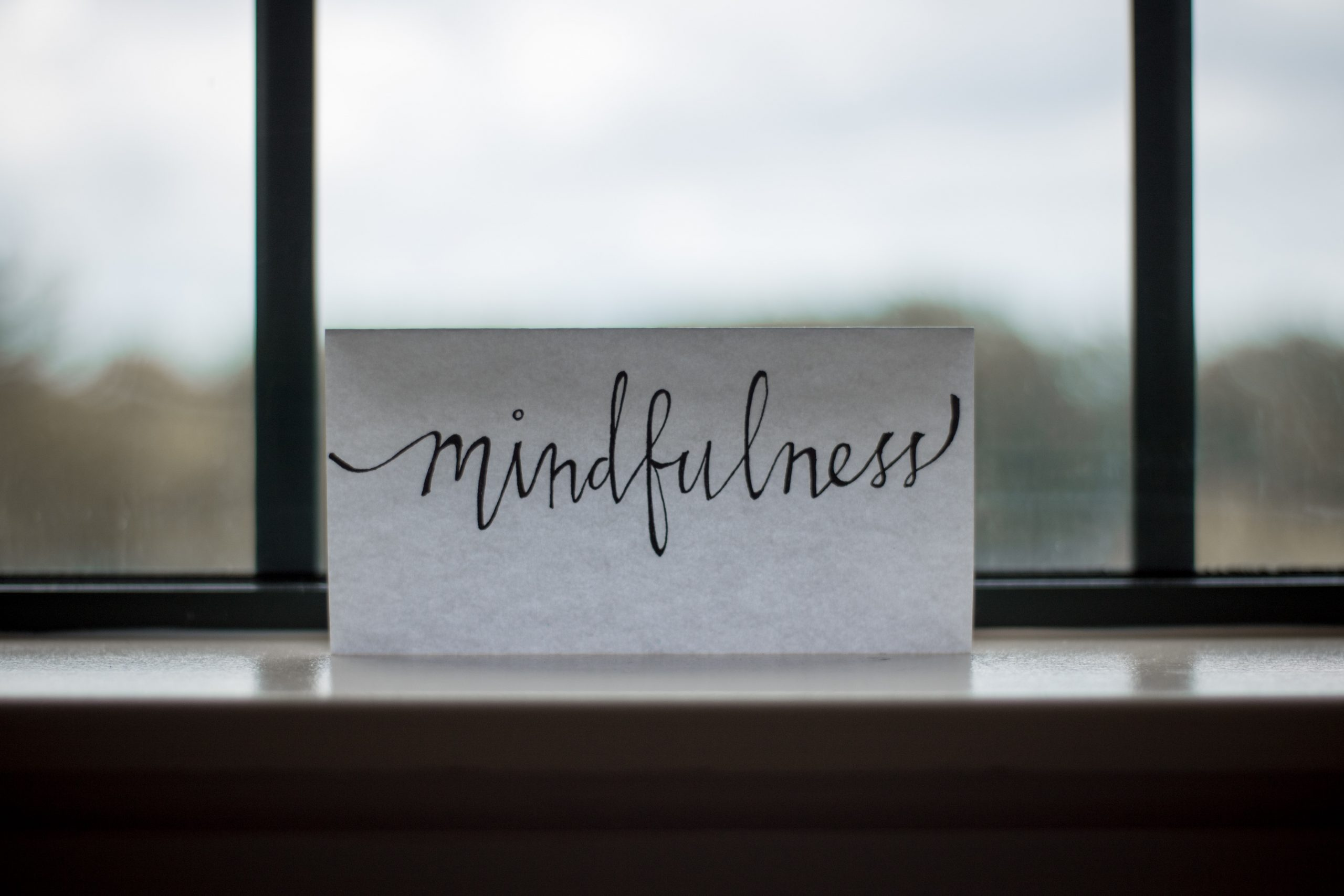 Mindfulness text used to represent a CBT modality.