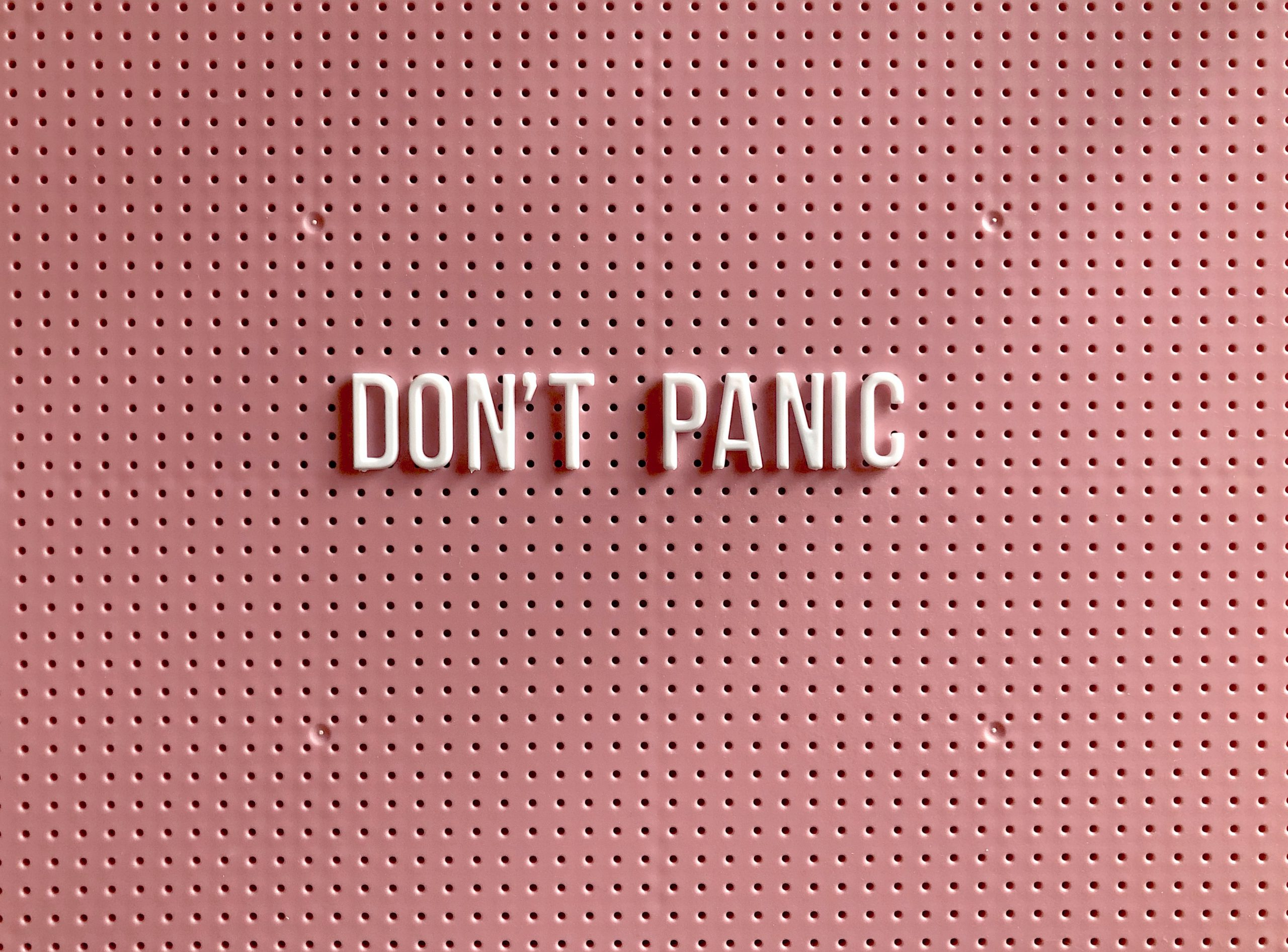 Image of Dont Panic words symbolizing relief because of a treatment center in American Fork.