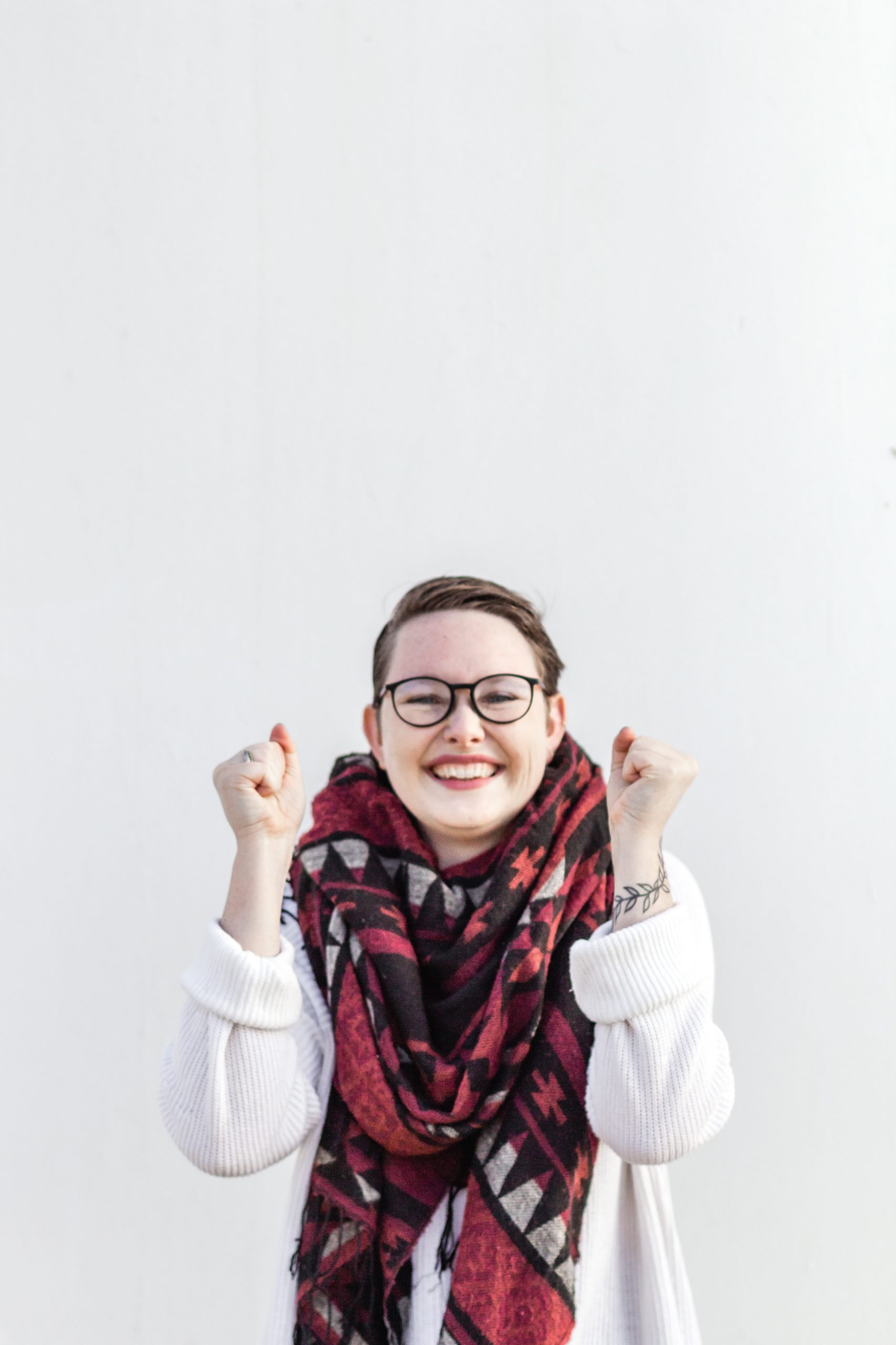 Happy lady showing the joy that comes from learning how to manage anxiety.